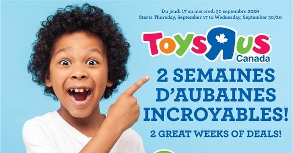 Circulaire Toys ''R'' us du 17 au 30 Septembre 2020