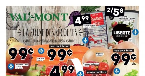 Circulaire Val-Mont - Fruiterie du 17 au 23 Septembre 2020