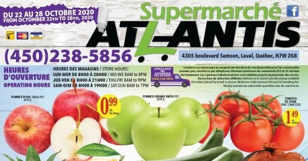 Circulaire Supermarche Atlantis du 22 au 28 Octobre 2020