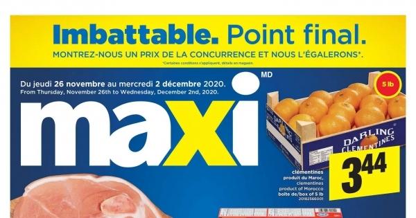 Circulaire Maxi du 26 novembre au 2 décembre 2020