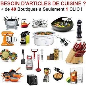 Plus de 40 boutiques d'Articles de Cuisine à portée de Clic