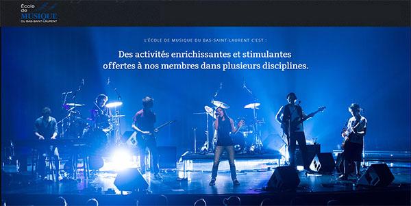 École de Musique du Bas-Saint-Laurent en ligne