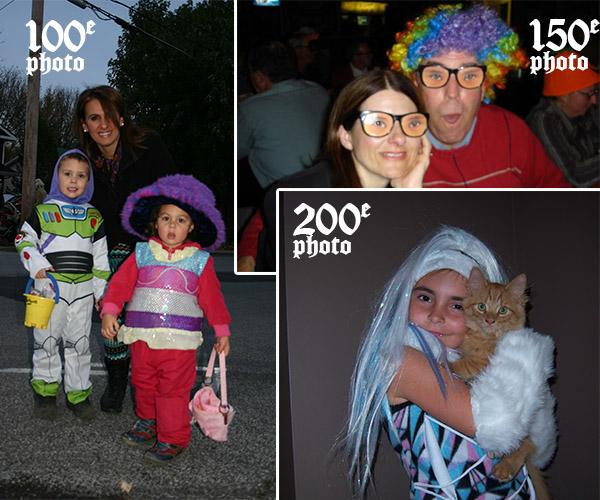 100e,150e et 200e photos d'halloween