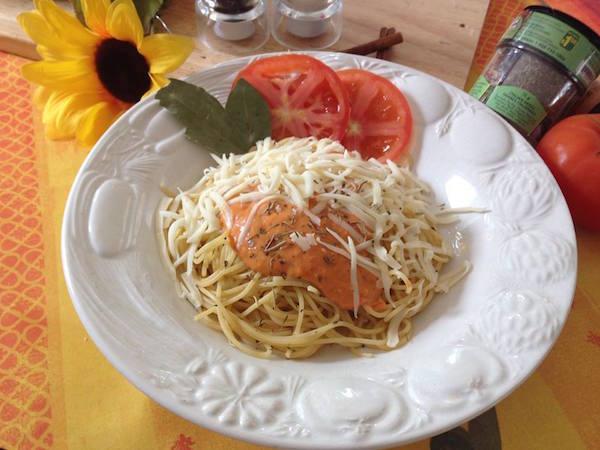 Spaghetti sauce rosée