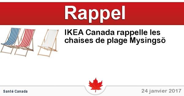 ikea canada rappelle les chaises de plage mysings circulaire en ligne. Black Bedroom Furniture Sets. Home Design Ideas