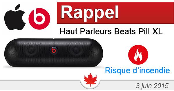Apple Canada Inc. rappelle des haut parleurs Beats Pill XL
