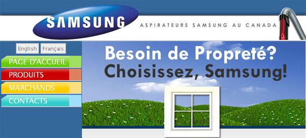 Aspirateur Balayeuse Samsung Canada Site en ligne