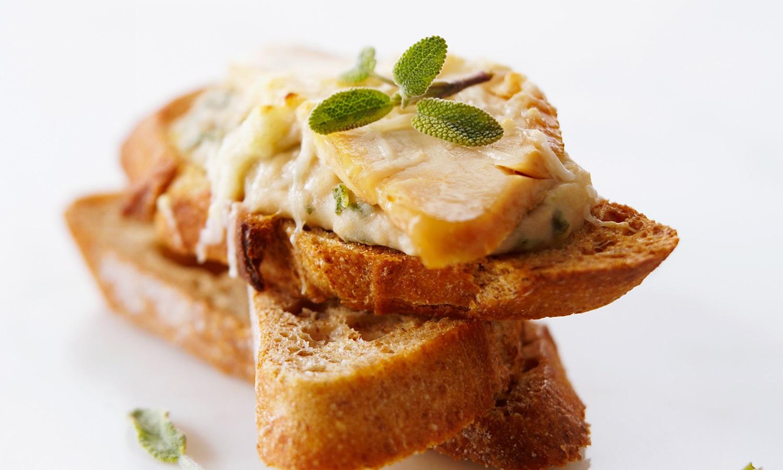 Recette canap s crostini avec haricots blancs poulet et for Canape haricot