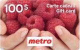 Carte Cadeau Metro 100 dollars