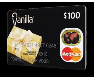 Carte MasterCard Vanilla 100$