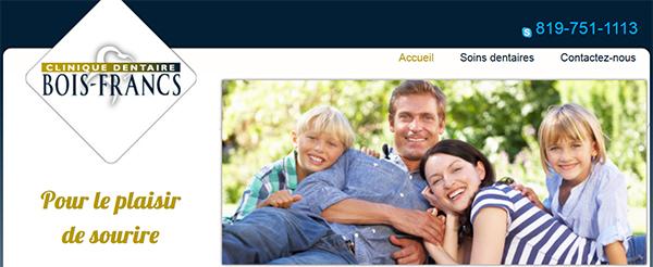 Clinique Dentaire Bois-Francs en Ligne