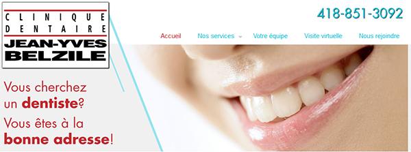 Clinique Dentaire du Docteur Jean-Yves Belzile en Ligne