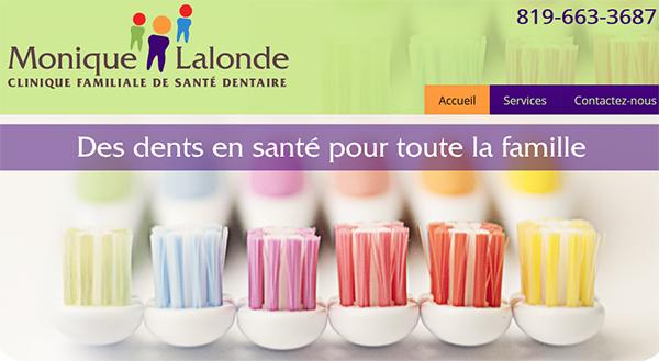 Clinique Familiale de Santé Dentaire Dre Monique Lalonde en Ligne