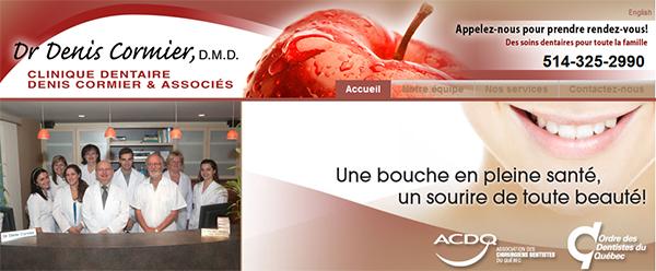 Clinique dentaire du docteur Denis Cormier en Ligne