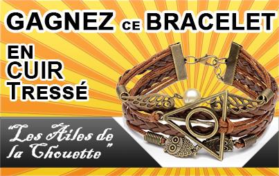 Gagnez ce Bracelet en Cuir «Les Ailes de la Chouette»