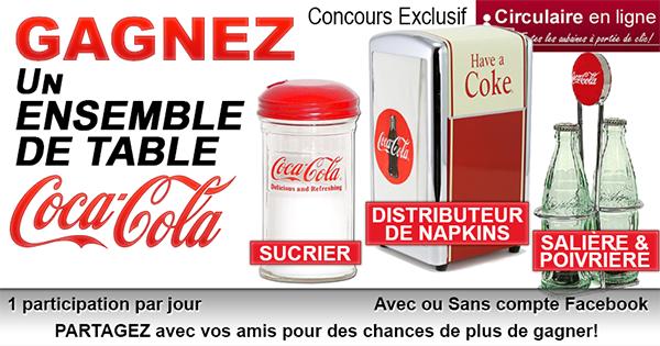 Concours Gagnez un ensemble de Table Coca Cola