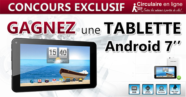 Concours Gagnez une Tablette Android
