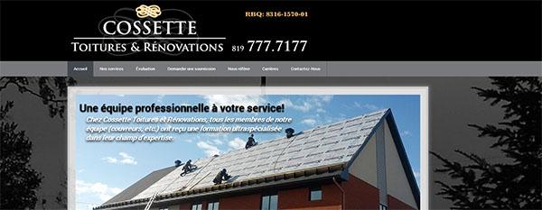 Cossette Toitures & Rénovations en ligne