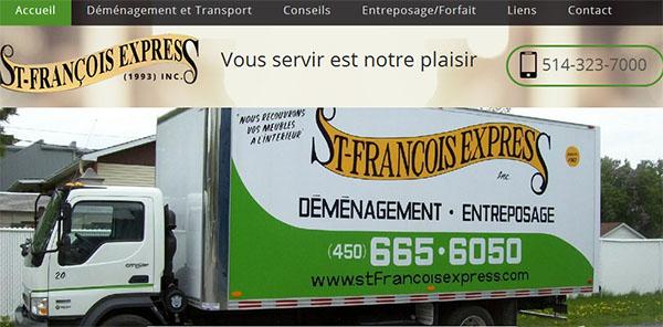 Déménagement St-François Express en ligne