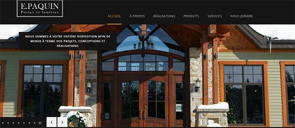 E.Paquin Portes et Fenêtres en ligne