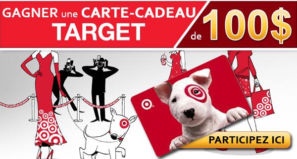 Gagnez une carte cadeau Target de 100$