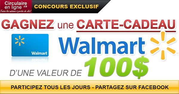 Gagnez une carte-cadeau Walmart de 100$