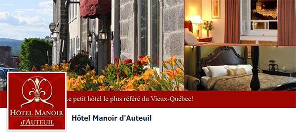 Hôtel Manoir d'Auteuil