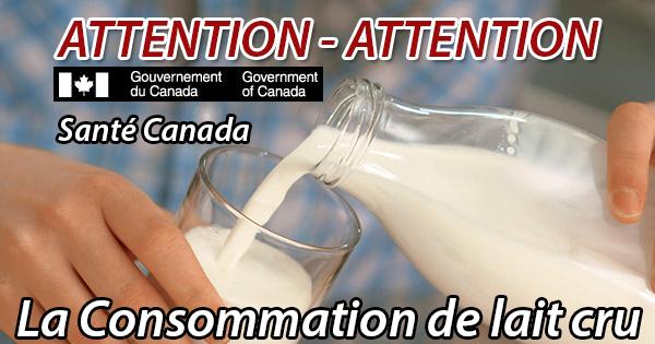 La consommation de lait cru n'en vaut pas le risque