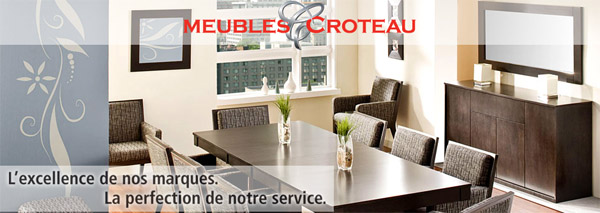 promotions et rabais meubles croteau circulaire en ligne. Black Bedroom Furniture Sets. Home Design Ideas
