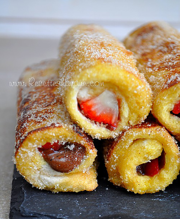 """Recette: Pain Perdu Roulé """" French Toast Roll Ups"""