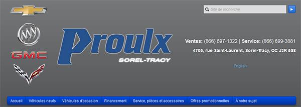 Proulx Chevrolet Buick GMC en Ligne