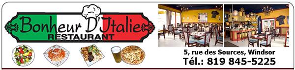 Restaurant Bonheur d'Italie en Ligne