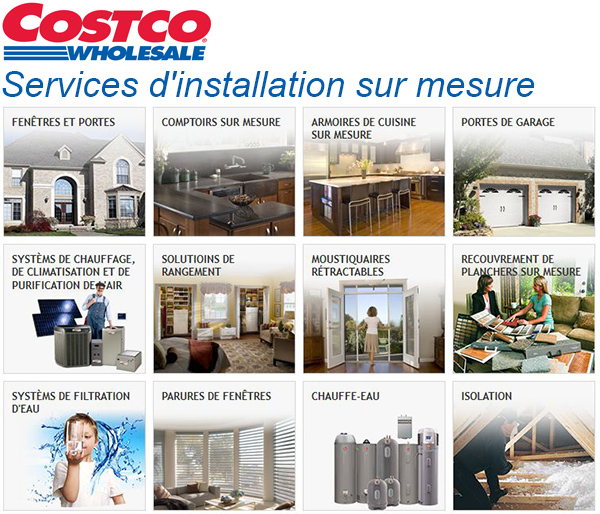 Services d 39 installation sur mesure de costco circulaire for Lit escamotable costco