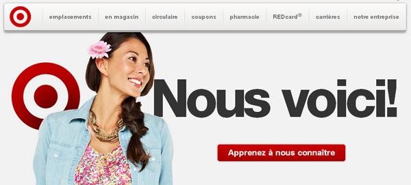 Target ouvre ses premiers magasins au Québec