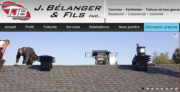 Toitures J.Bélanger & Fils en ligne