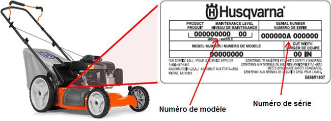 Tondeuses 7021p 21 pouces Husqvarna munies d'un moteur Honda