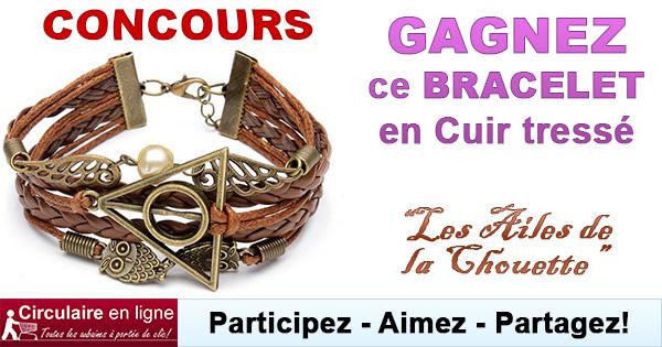 bracelet vintage ailes de hibou