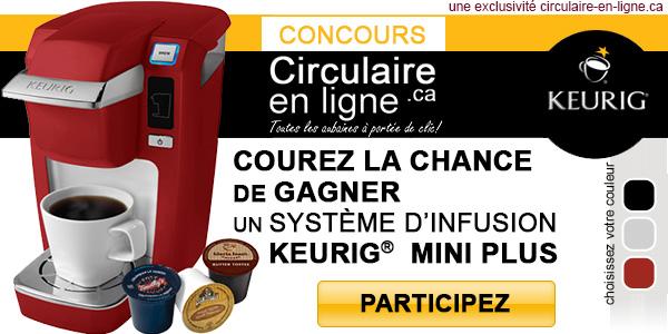 concours circulaire en ligne gagnez une cafetière keurig