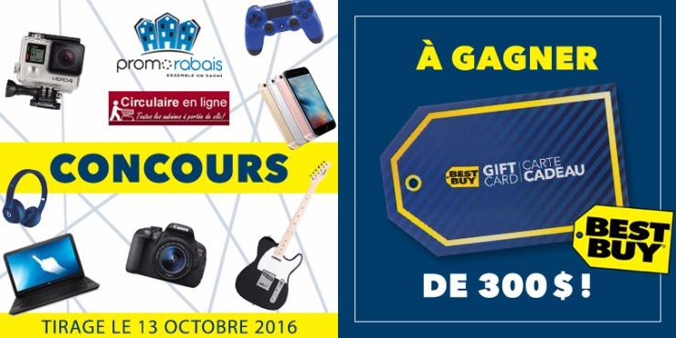 Concours Circulaire-PromoRabais - Gagnez une Carte-Cadeau Best Buy de 300$