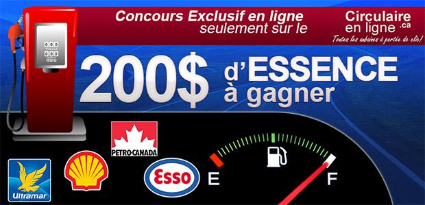 concours gagnez 200$ d'essence
