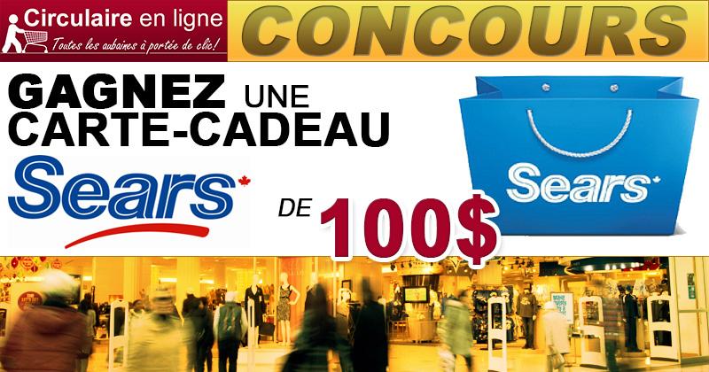 Concours Gagnez une Carte-Cadeau SEARS de 100$