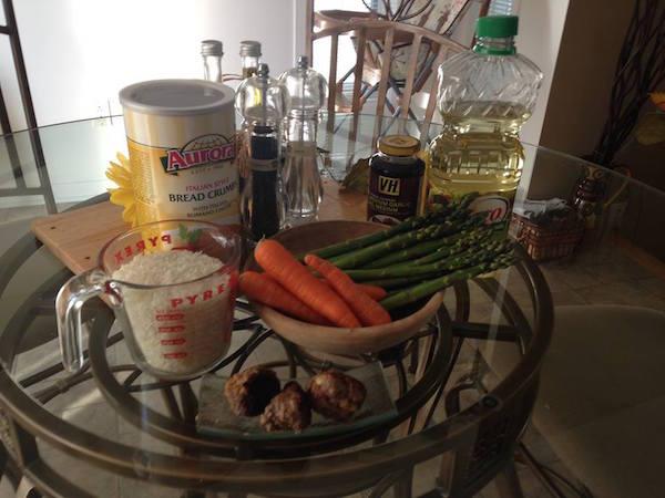 Les Ingrédients pour les boulettes sauce Sucrée