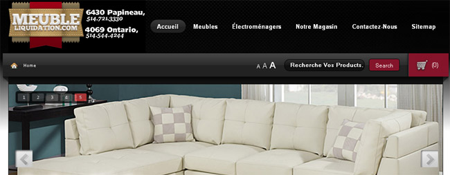 Meuble liquidation circulaire en ligne for Meuble neuf montreal