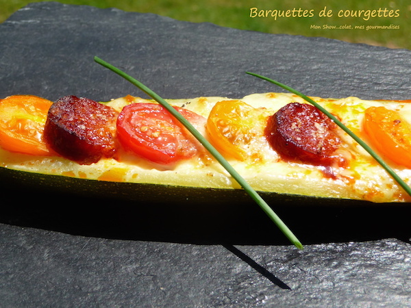 Barquettes Courgettes