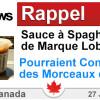 Circulaire Rappel de Sauce à Spaghetti de Marque Loblaws (fabriqué en magasin) en raison de la présence de Morceaux de Verre