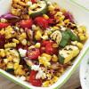 Circulaire Salade de Légumes Grillés et Vinaigrette au Yogourt et à L'aneth