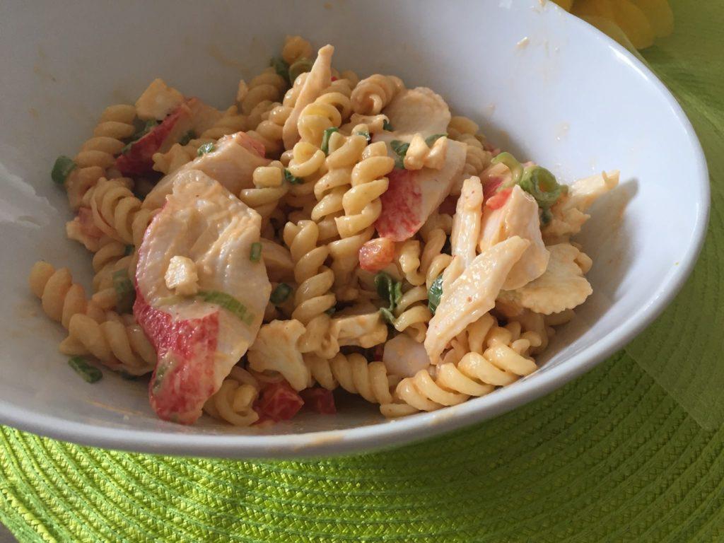 Salade de pâte et crabe 1
